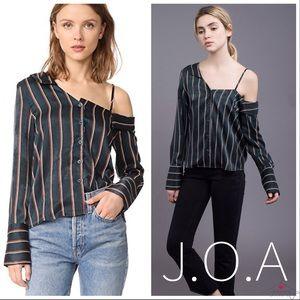 J.O.A. One Shoulder Stripe Blouse NWT -XS/0